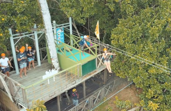 Sabang X Zipline: Started 150 feet above ground - check us out on Youtube (The NYC Couple)