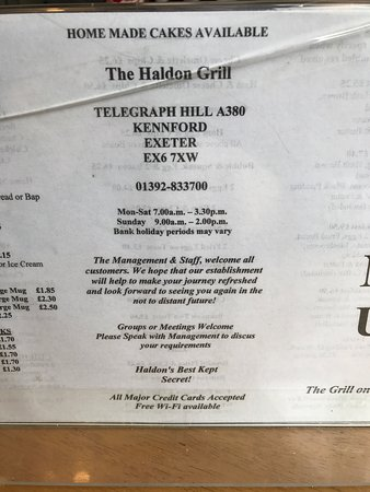 ‪‪Kennford‬, UK: Menu‬
