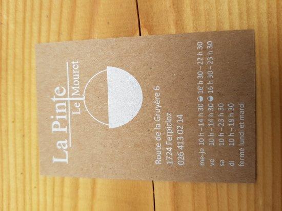 Ferpicloz, Suisse : Pinte a Fromage la Vieille Laiterie