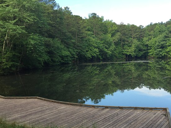 Marietta, GA: Fishing dock at Sibley Pond