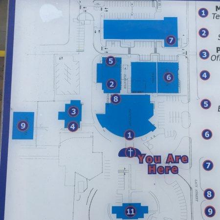 Marietta, GA: Church campus map