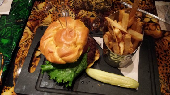 Texas 44 Angus Burger Picture Of Rainforest Cafe