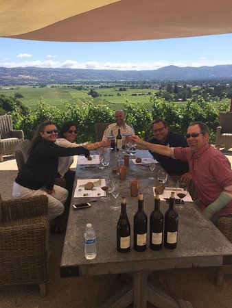 Squire Livery Tours: First tasting of the day at John Anthony Vineyards