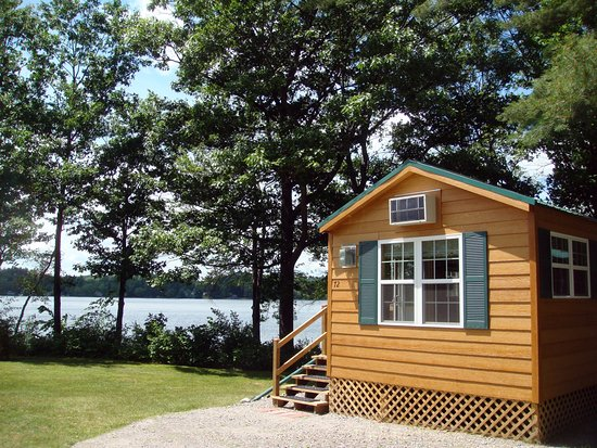 Silver lake park campground cabins prices reviews for Cabin camping new hampshire