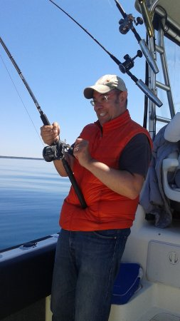 South Baymouth, Canada: Clients fighting the big one !