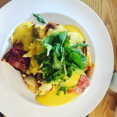 Thyme Square Cafe: Eggs benedict with a twist.