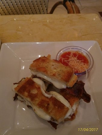 The Cheesecake Factory: Truffle-Bacon Grilled Cheese Sticks