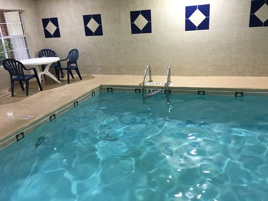 Fairburn, Gürcistan: Unsafe ladder and trash in pool area
