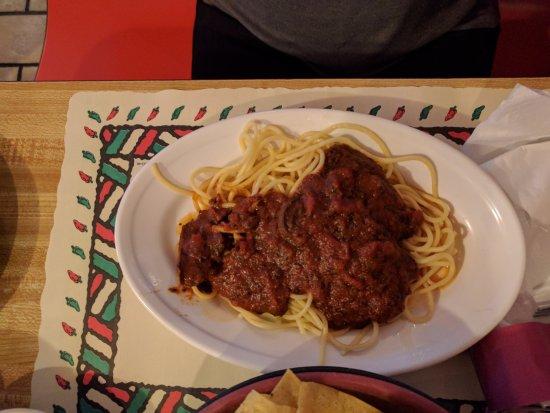 Borger, Teksas: Spaghetti