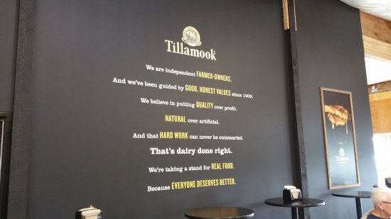 Tillamook, OR: sign in the visitor's center