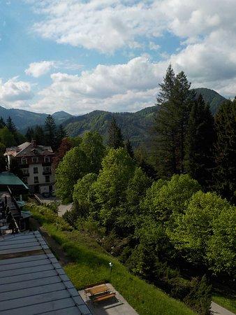 Puchenstuben, Østerrike: Blick von einem der Zimmer, die im 3. Stock liegen