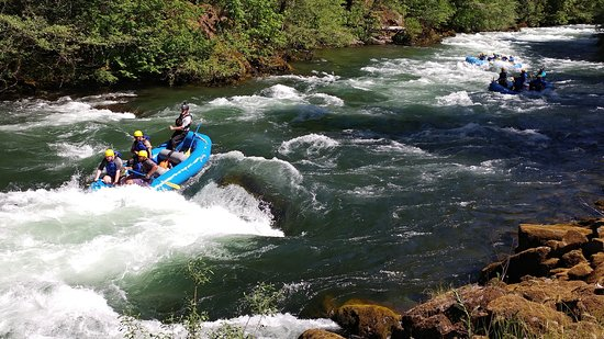 Idleyld Park, OR: Paddle rafting Segment #1