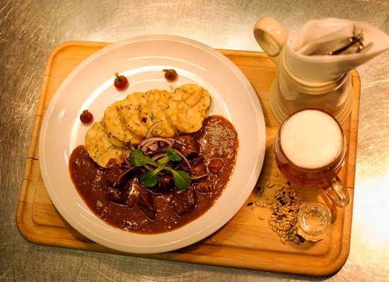 Liptovar Pivovar Brewery Beef Goulash With Home Made Bread Dumpling