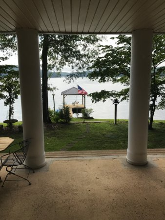 Cropwell, AL: View of the pier from the house
