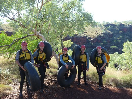 West Oz Active Adventure - Day Tours: Truck inner tubes to float in!