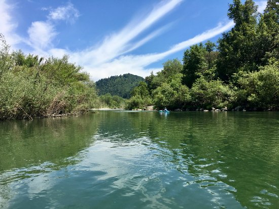 Healdsburg, Kalifornia: Just us, the river, and the wildlife.