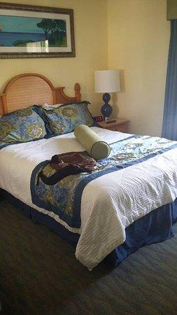 Blue Tree Resort at Lake Buena Vista: Habitacion prinipal con tv, closet y bano propio