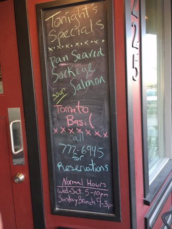 Stevensville, MT: Chalkboard menu