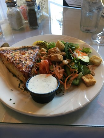 J R Maxwell & Co. : Seafood Quiche and side salad.