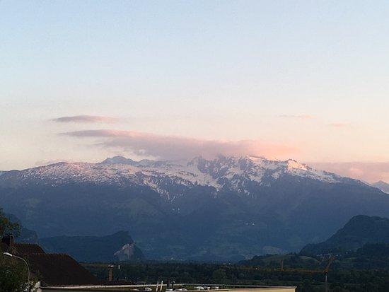 Triesen, Lihtenştayn: View from the balcony