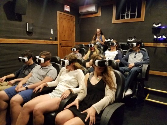 Columbia Falls, MT: 4D Theater simulates all 5 senses. Hold on, this is a wild ride!