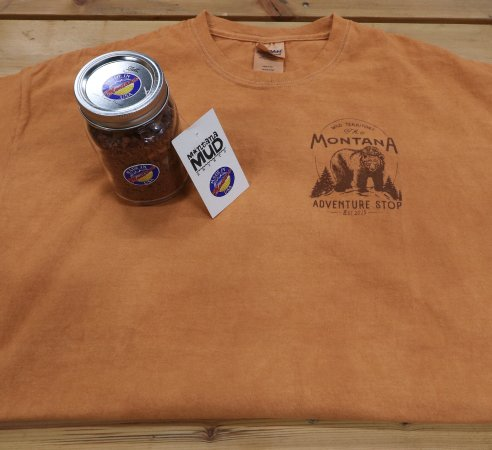 Columbia Falls, MT: Made in Montana merchandise for sale in the convenience store.