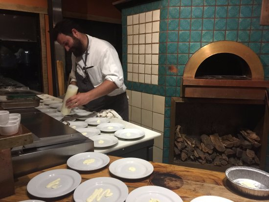 Chef Brian Collins during a winemaker's dinner event at Ember