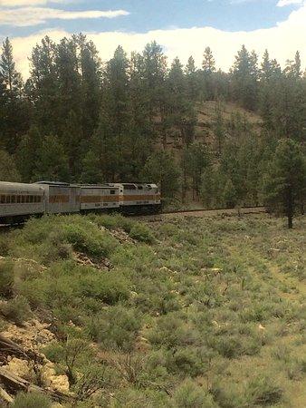 Williams, AZ: train view into canyon.
