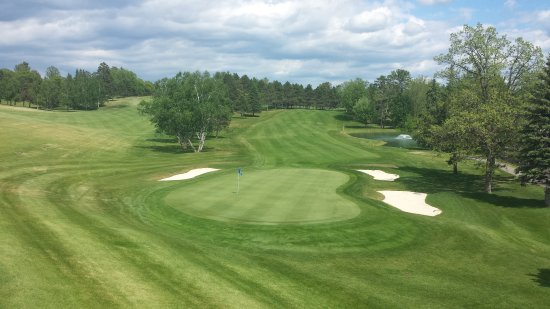 Bemidji Town and Country Club: The 18th from the deck at the grill.