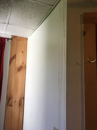 Richfield Springs, NY: leaking/damage right next to bed