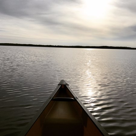 Ely, MN: Sunrise over the Way To Go Canoe in BWCA