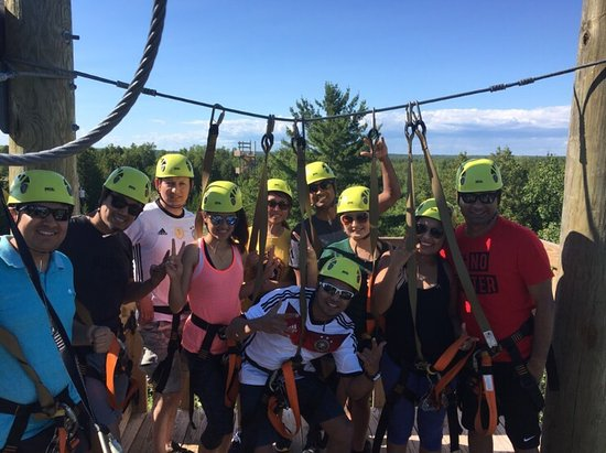 Baileys Harbor, WI: Lakeshore Adventures Zip Line