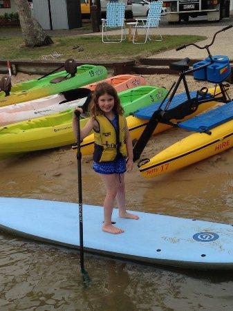 Noosaville, Australia: Hannahs 1st Paddle Board