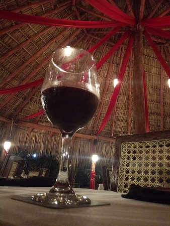 The Buccaneer: A glass of Cabernet Sauvagnion