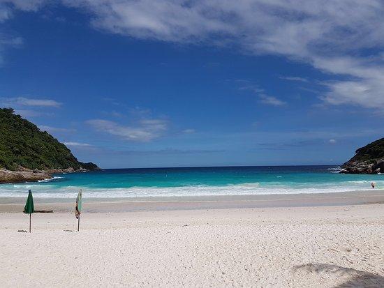 The Racha: Sand Powder Beach with very blue feel sea water.
