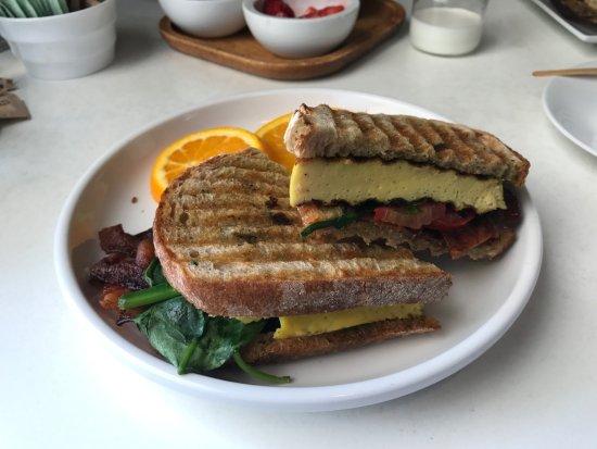 Solana Beach, CA: Rancho Baked Egg Sandwich