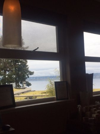 Courtenay, Kanada: View of the ocean from my pedicure chair, Kingfisher Oceanside Resort and Spa, 4330 Island Hwy S