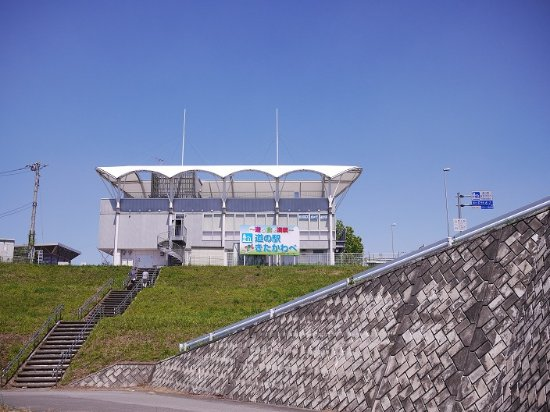 Kazo, Japan: スポーツ遊学館:白い建物が遠くから見えていて目印になります。