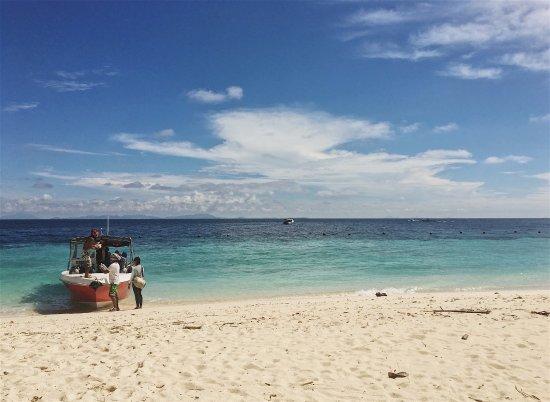 Scuba Junkie Mabul Beach Resort: Beach at Sipidan.