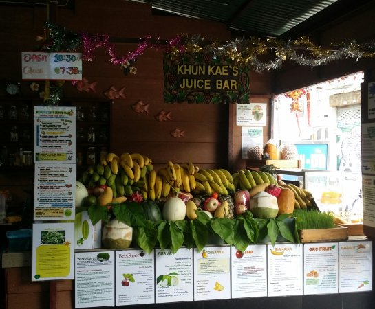 Khun Kaes Juice Bar Picture Of Khunkaes Juice Bar Healthy By