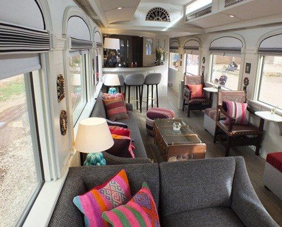 PeruRail Titicaca Train: Piano Bar Lounge aboard The Andean Explorer