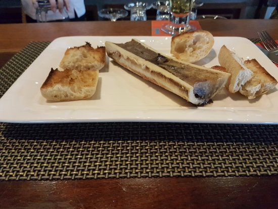 Brasserie du Port : Os à moelle avec gros sel et toasts