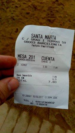 Santa Marta: Sablazo, 4€ por vermut de dos dedos.