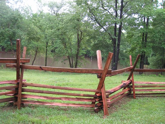 Musgrove Mill State Historic Site: Split-rail fence on grounds