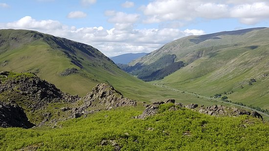 Helm Crag: The road to Keswick...