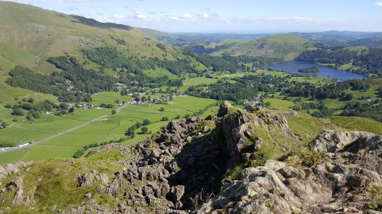 Helm Crag: Looking towards Grasmere from the summit...