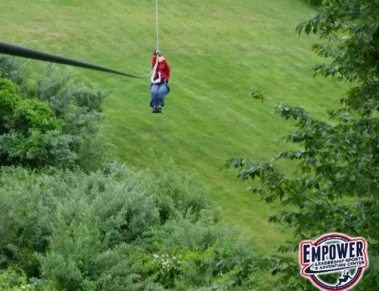 Middletown, CT: My first zipline!