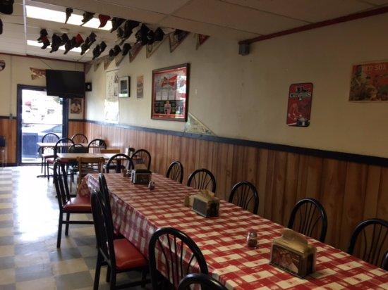 Boston's Deli & Pizza : The rear dining room area view # 2