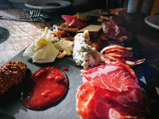 Owl Bar: How's that for a dramatic charcuterie plate?! 😁