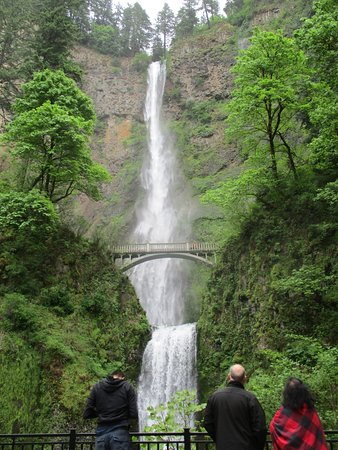 Columbia River Gorge: Multnomah Falls is especially full this year due to a wet winter and Spring.